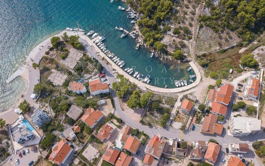 Croatia Sibenik area waterfront land with boat mooring for sale