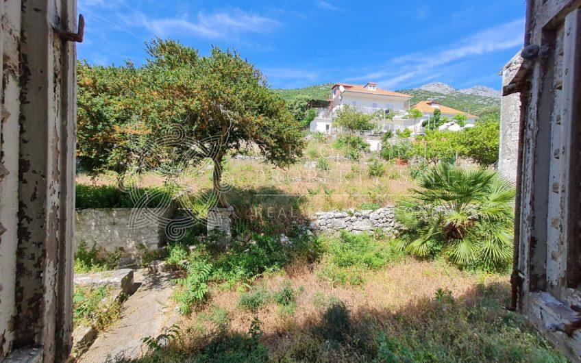 Waterfront stone house for sale Orebic area Peljesac Croatia